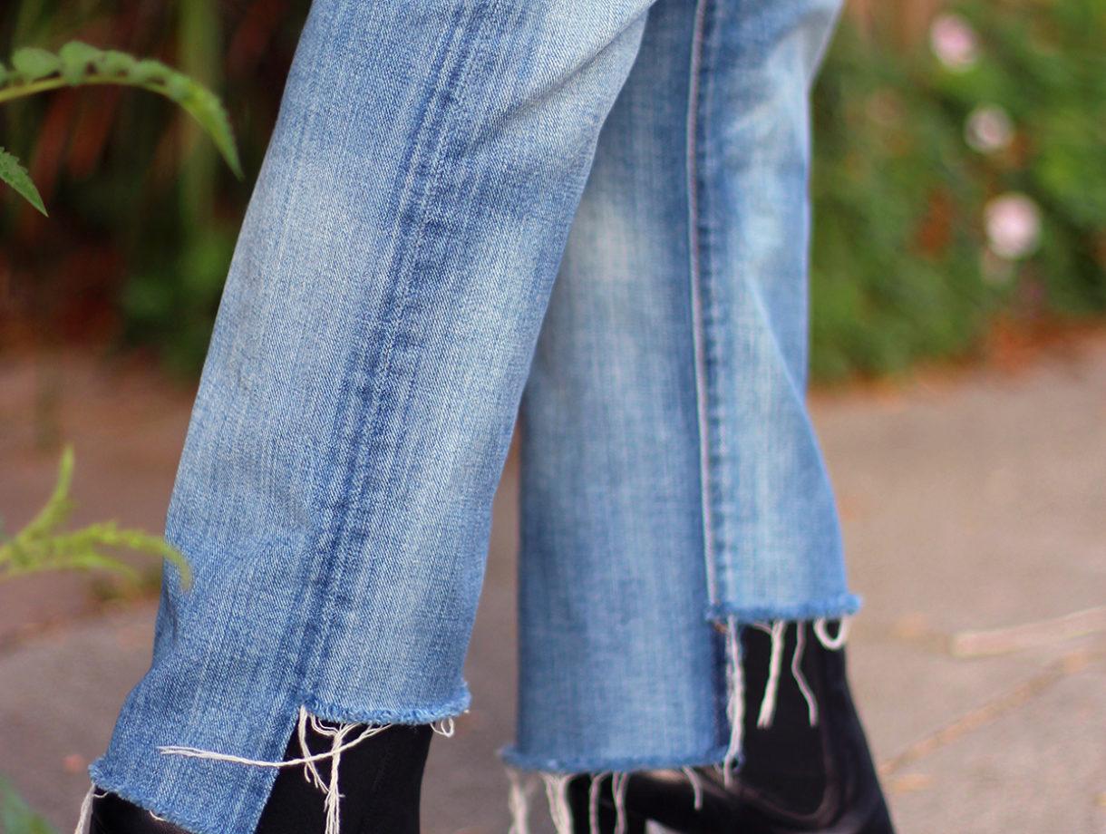 Do-it-yourself jeans repair