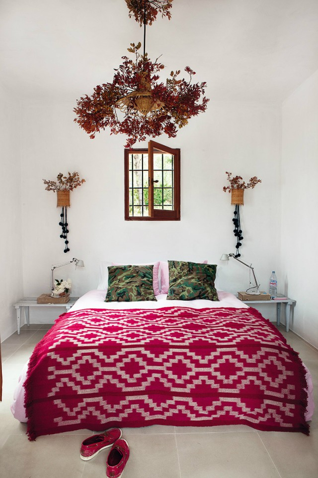 modern bohemian bedroom| ibiza