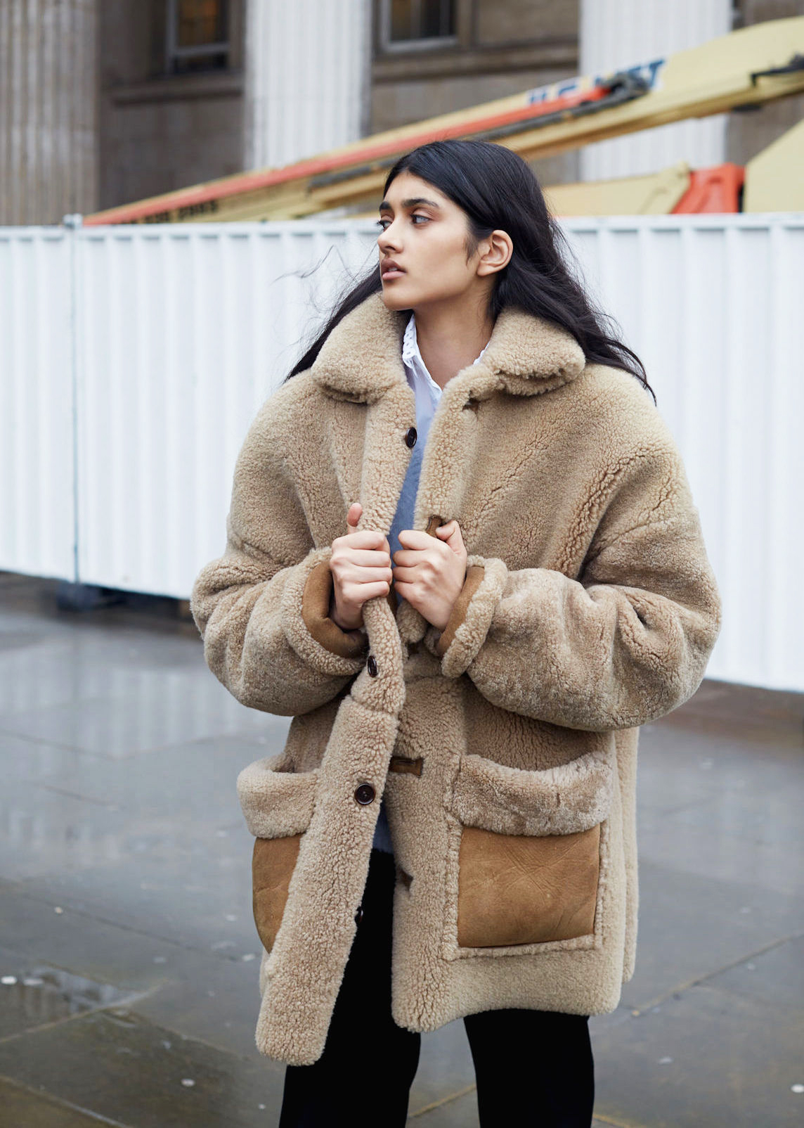 Spotted: Shearling Coats
