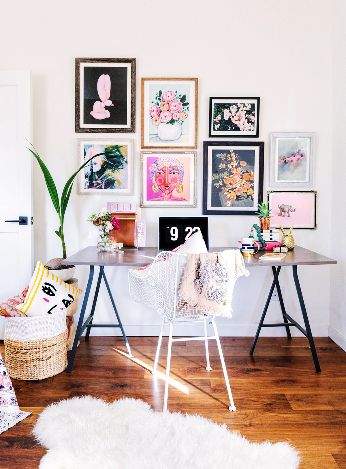 Terrific Office Gallery Wall Two Ways Largest Home Design Picture Inspirations Pitcheantrous