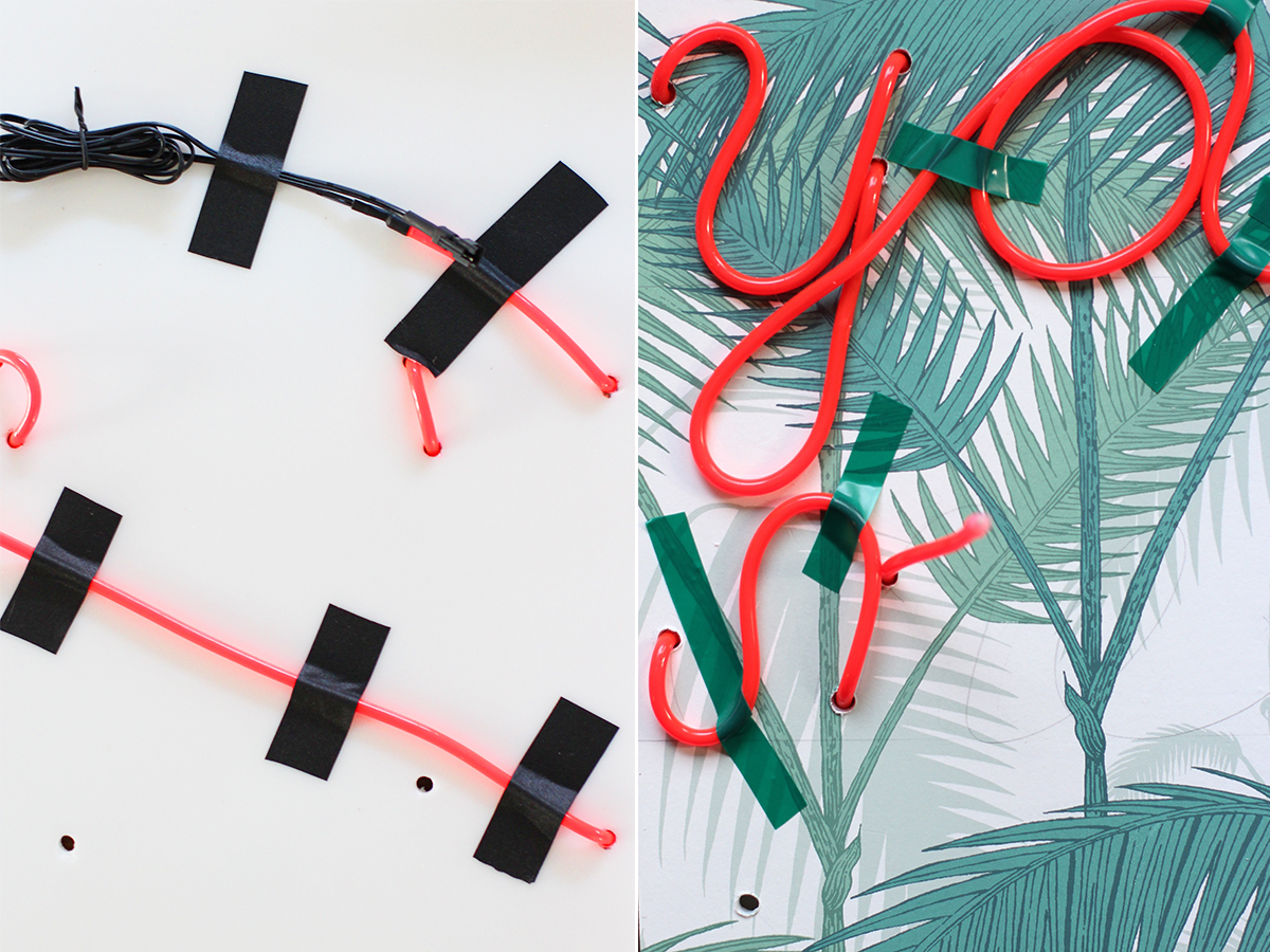 DIY Neon Sign – Honestly Neon Light Wiring on