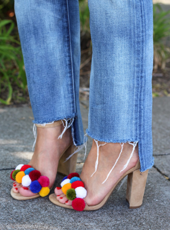 DIY Pom Pom Shoes