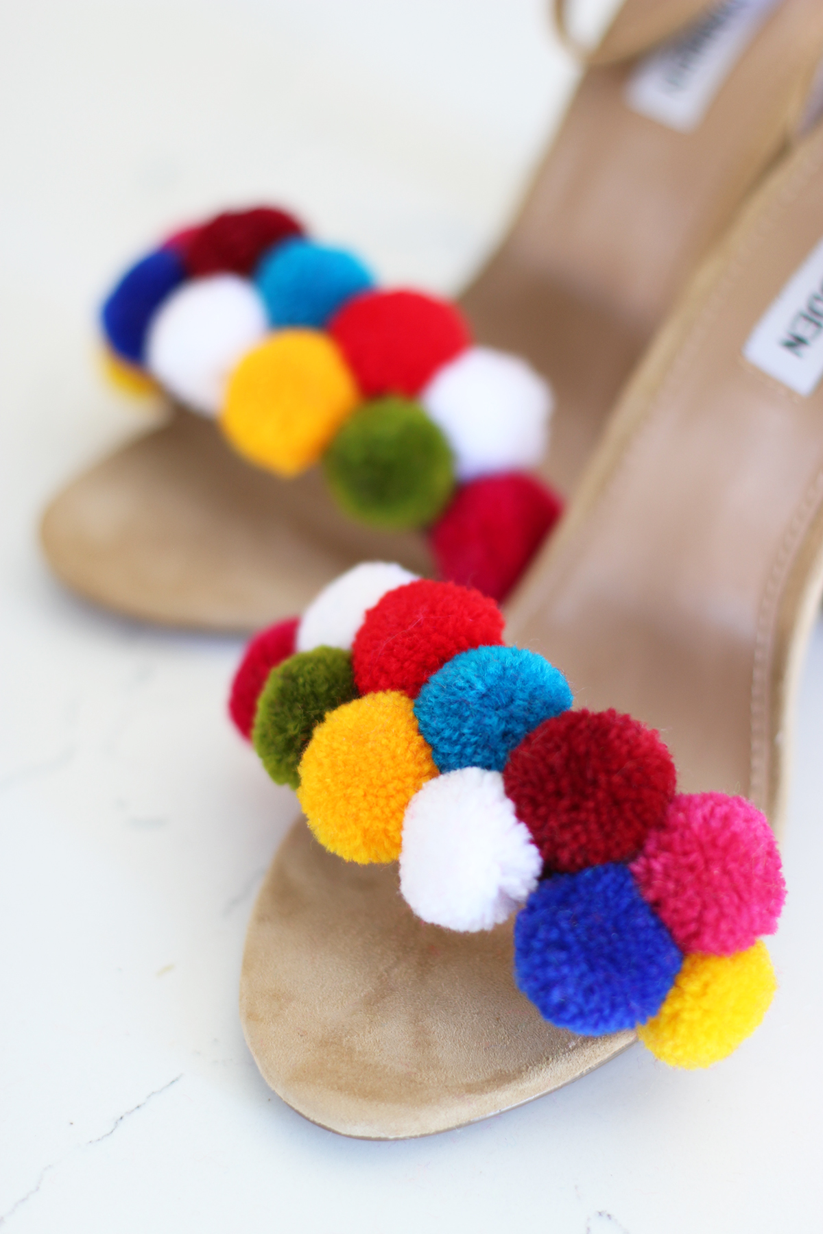 diy pom pom shoes honestly wtf. Black Bedroom Furniture Sets. Home Design Ideas