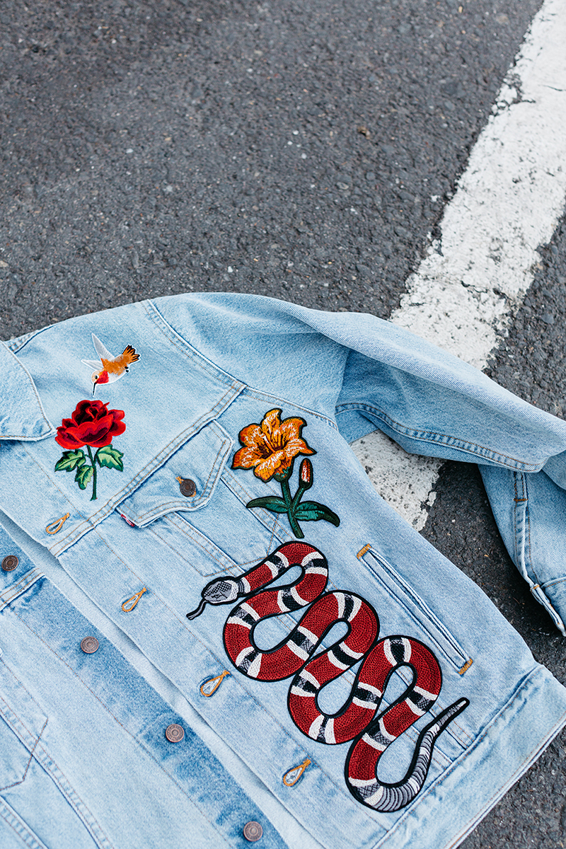 Diy Embroidered Patch Denim Jacket Honestly Wtf