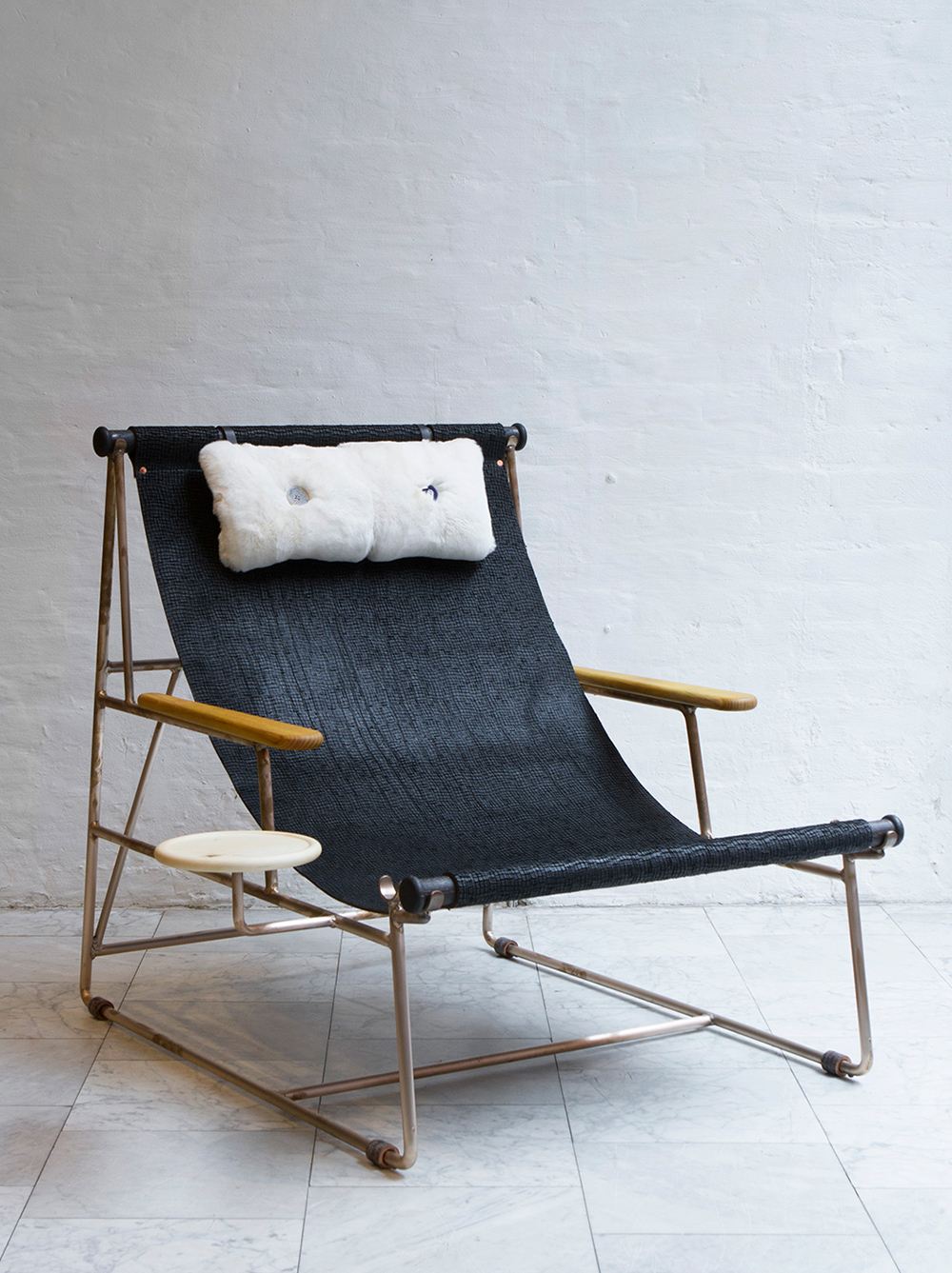 (Leather Deck Chair By BDDW)