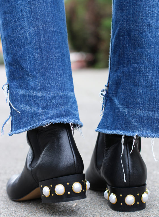 DIY Pearl Studded Boots