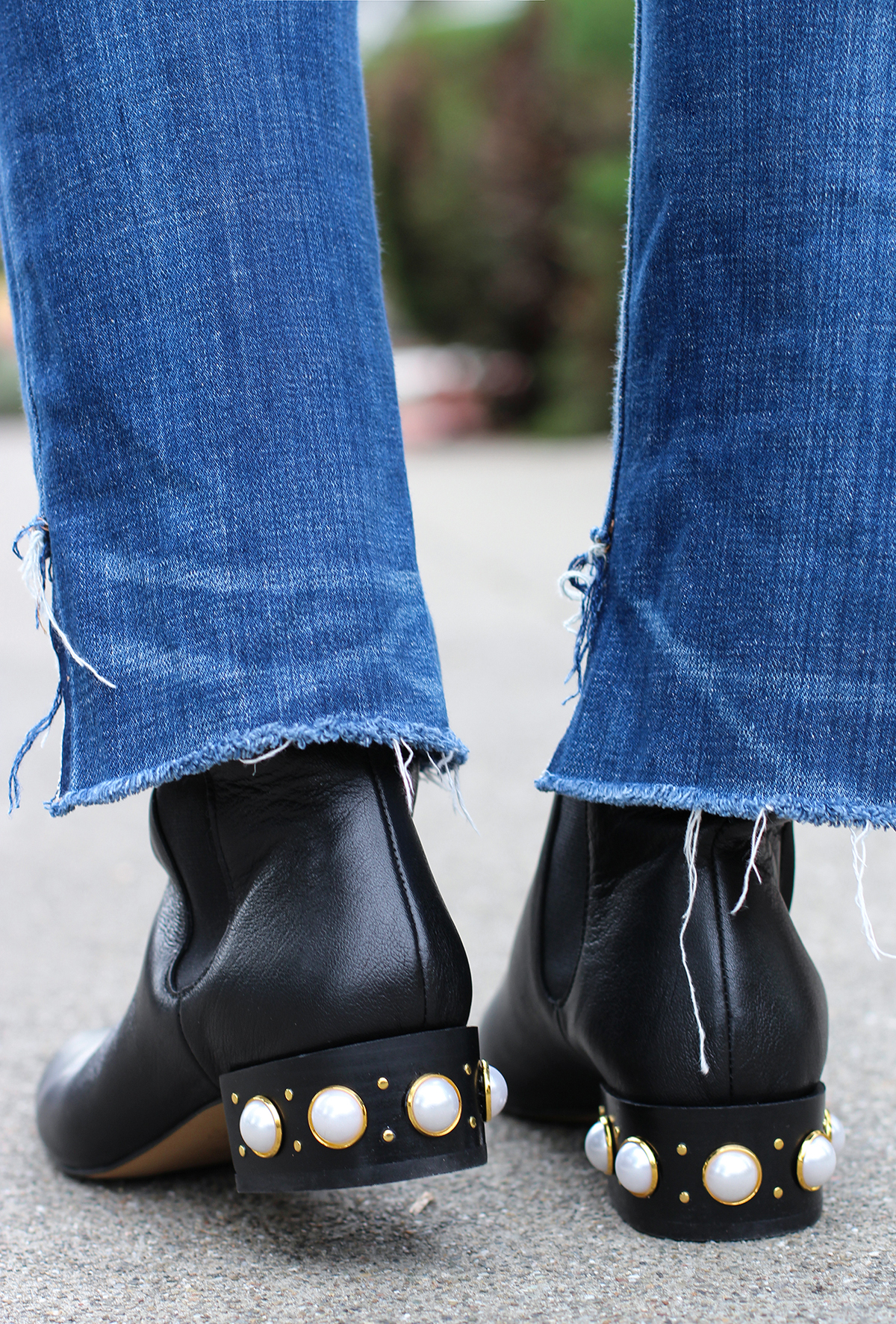 Diy Pearl Studded Boots Honestly Wtf