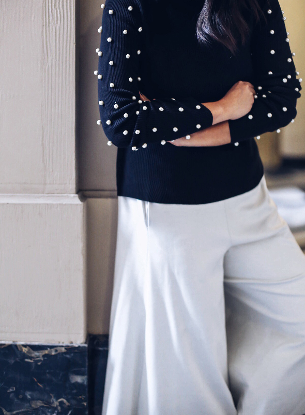 DIY Pearl Studded Sweater \u2013 Honestly WTF