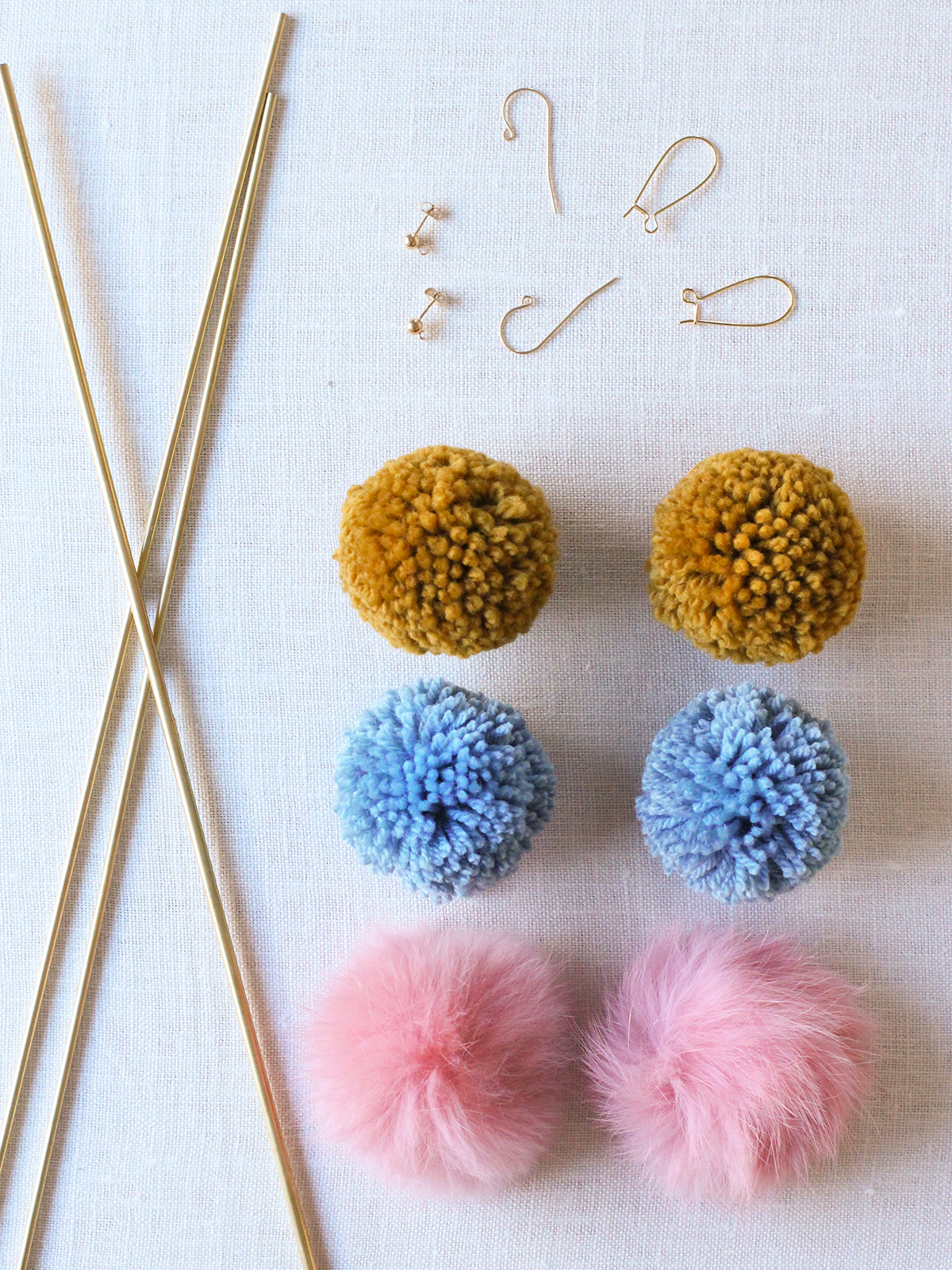 diy pom pom earrings honestly wtf. Black Bedroom Furniture Sets. Home Design Ideas