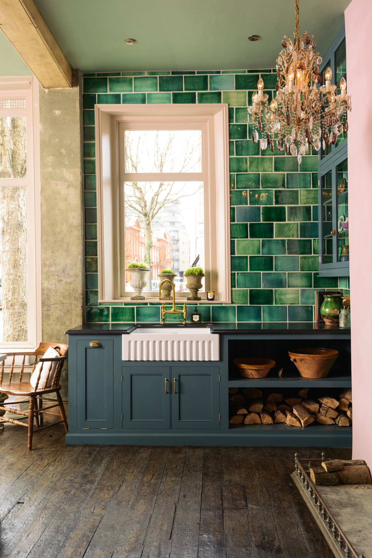 A Pink Amp Green Kitchen Honestly Wtf