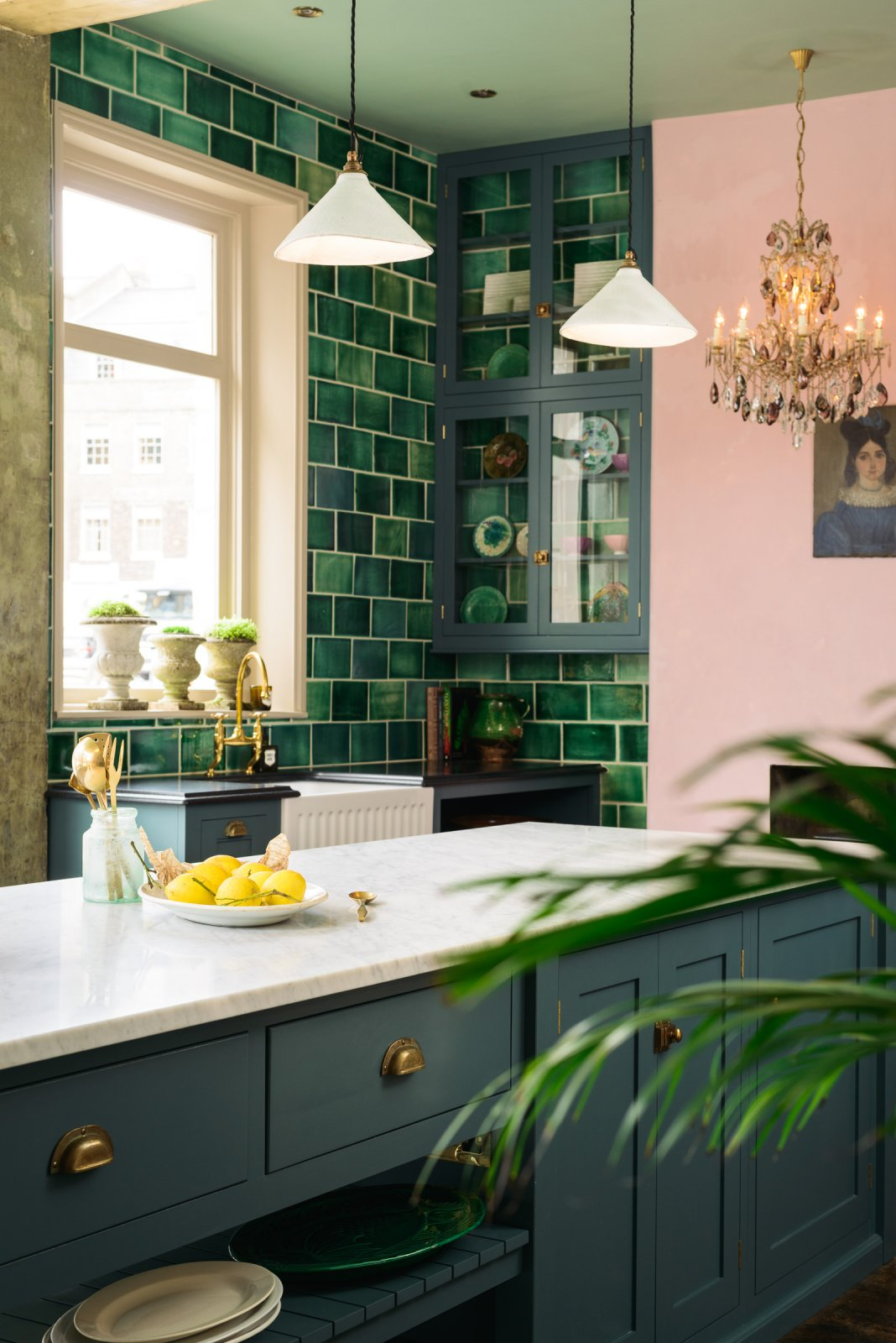 A Pink & Green Kitchen - Honestly WTF