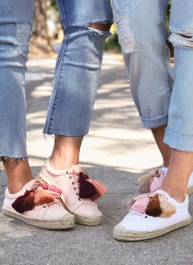 7f19eb84cae DIY Tassel Espadrille Sneakers