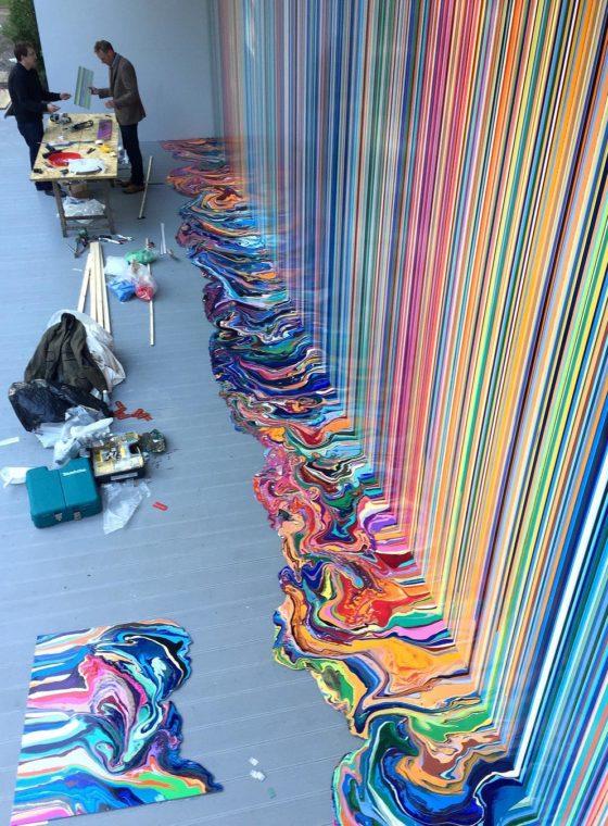 Ian Davenport's Puddle Paintings