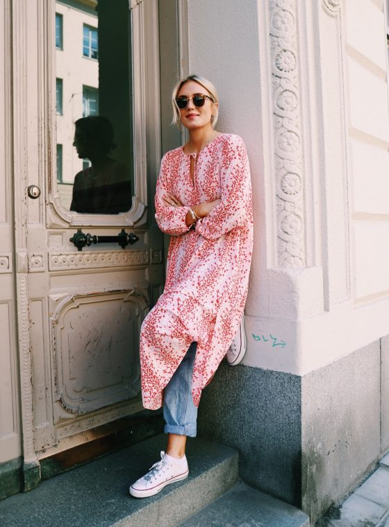 Currently Obsessed With: Wearing Dresses Over Denim