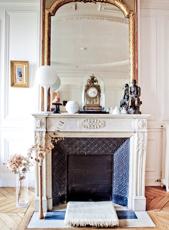 White (or Black?) Fireplace Mantles