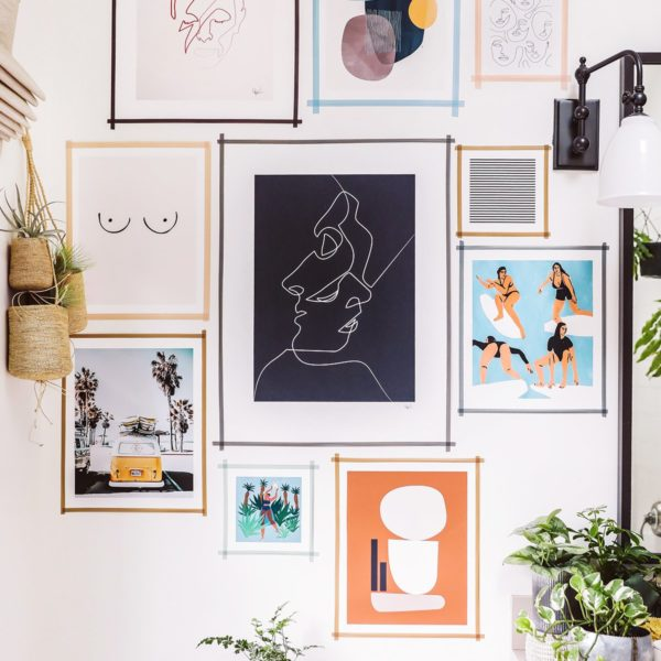 DIY Washi Tape Gallery Wall