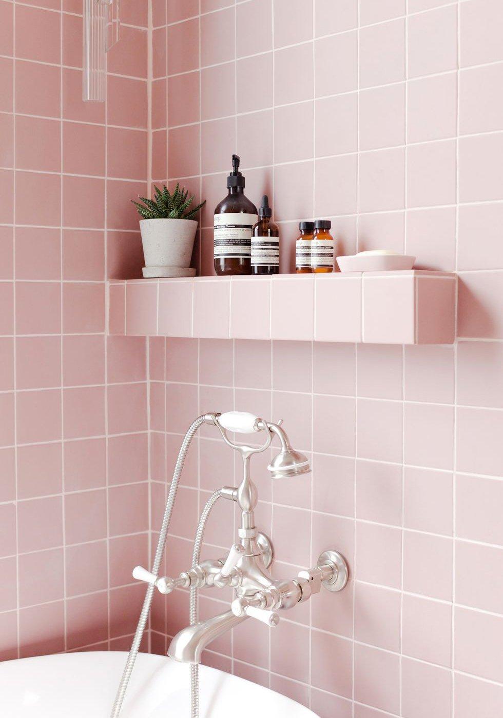 Amazing Pink Bathroom Plans Free