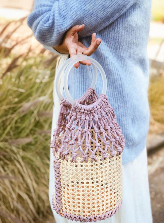 DIY Macrame Bucket Bag