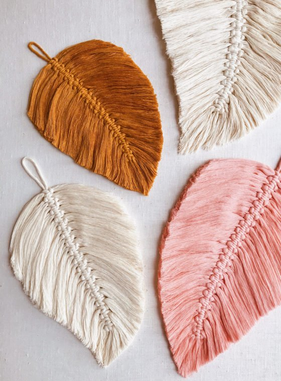 DIY Macrame Feathers