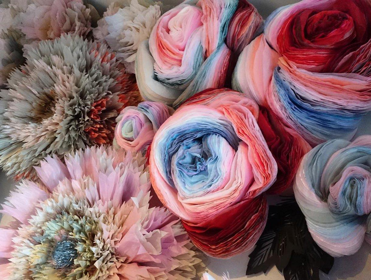 international paper flower day