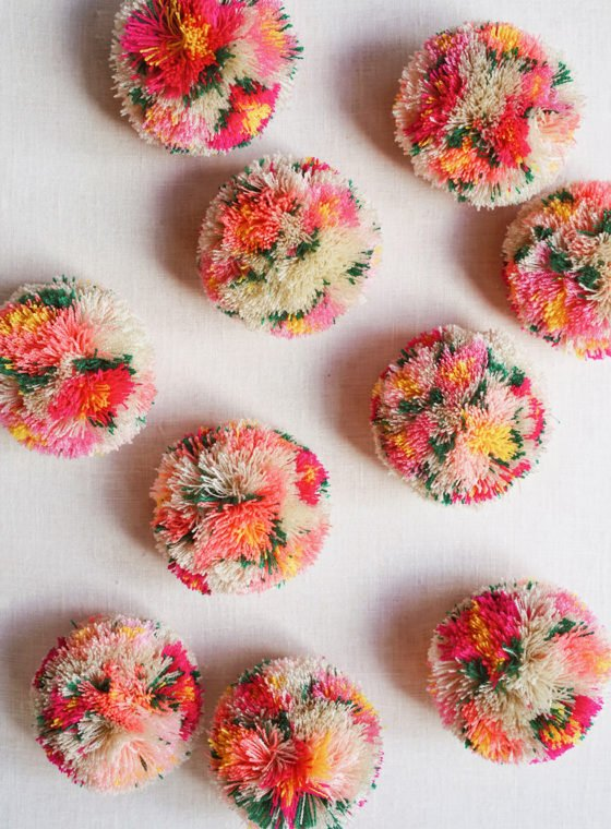 DIY Floral Pom Poms
