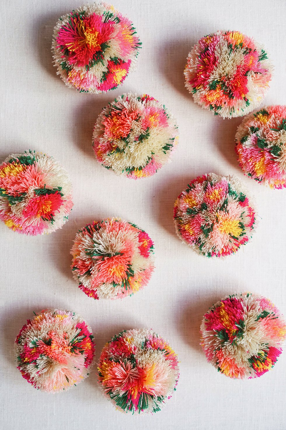 Diy Floral Pom Poms Honestly Wtf