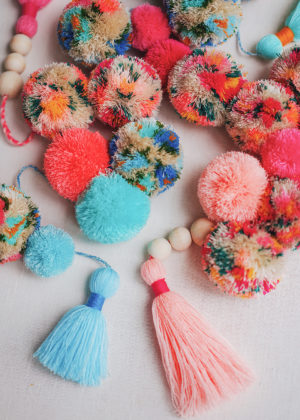 DIY The Perfect Tassel + Pom Pom Garland
