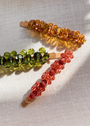 DIY Beaded Barrettes