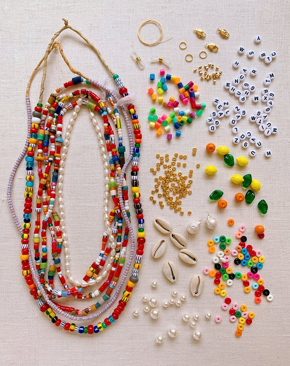 Diy Beaded Summer Necklaces Honestly