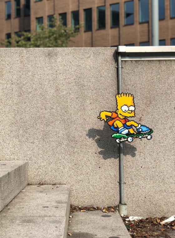 Pappas Pärlor Pixel Street Art