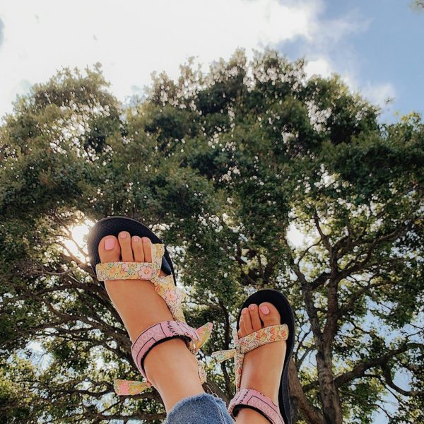 DIY Fabric Wrapped Teva Sandals