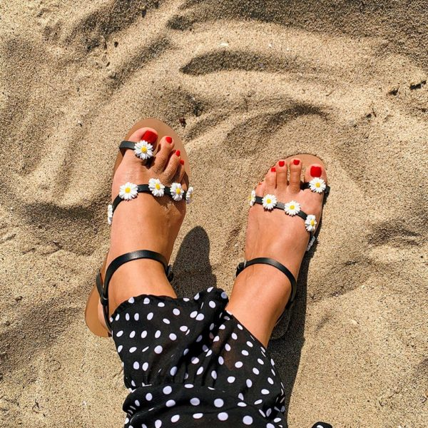 DIY Daisy Sandals