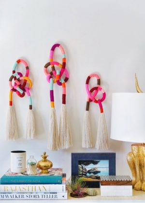 DIY Wrapped & Knotted Wall Hanging