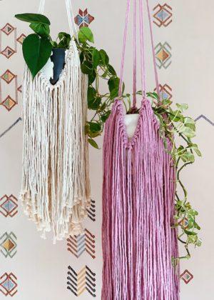 DIY Fringed Macrame Plant Hanger