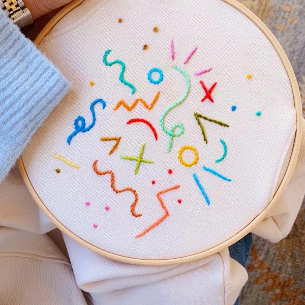 DIY Doodle Embroidered Sweatshirt