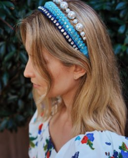 DIY Velour & Crystal Headband