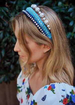 DIY Velour & Crystal Headband