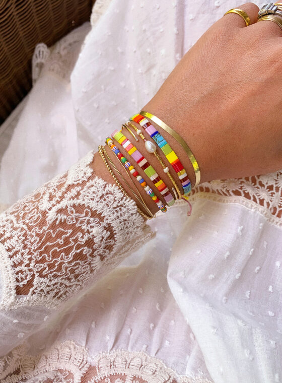 DIY Tila Bead Bracelet