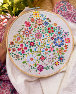 DIY Cross Stitching with a Pattern
