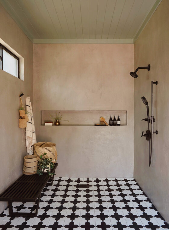 Pool House Shower With BEHR Color Trends 2021 Palette