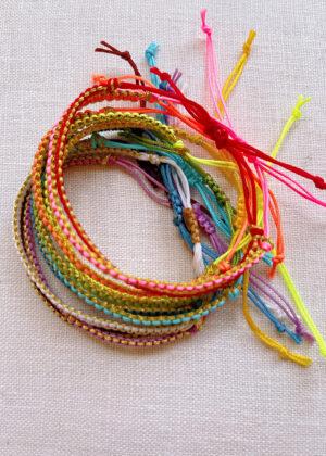 DIY Woven Macrame Bracelet